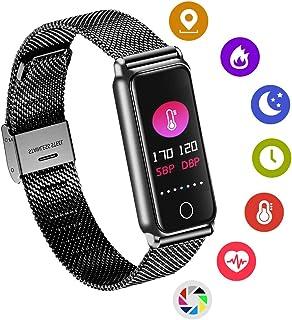 Zeerkeer - Reloj inteligente de 15 días, Bluetooth, con pulsómetro, para hombres y mujeres, regalo de bussiness