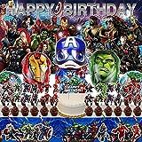 Avengers Party Supplies   Marvel   Superhero   Decorations   Theme   Birthday   Banner   Backdrop   Balloons   Boy   Kit