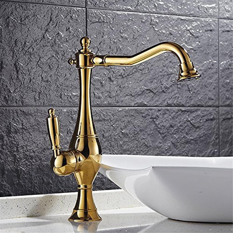 Küchenarmatur kann gedreht werden, spülen Sie heien und kalten Goldhahn