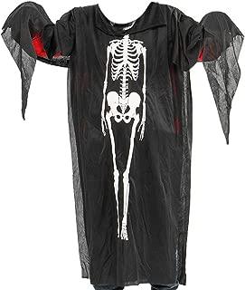 Big Boy's Ghost Cosplay Smock Skeleton Print Halloween Costume