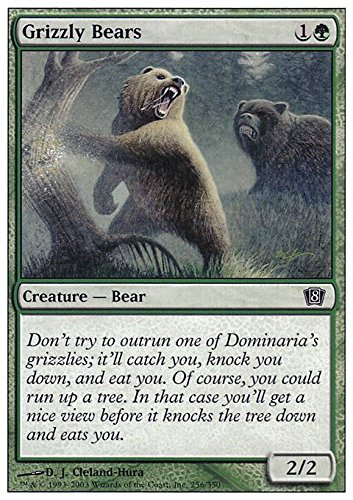 Magic The Gathering - Grizzly Bears - Eighth Edition