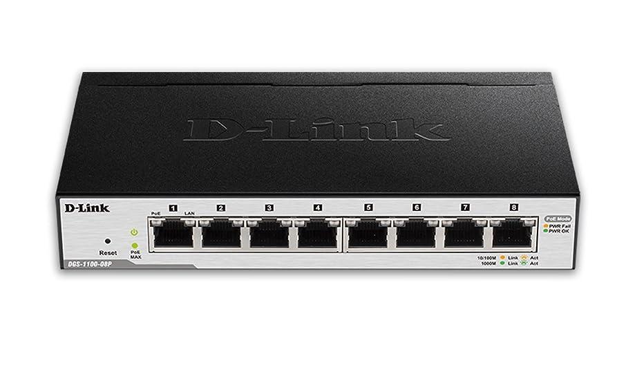 D-Link 8-Port EasySmart Gigabit Ethernet PoE Switch (DGS-1100-08P)