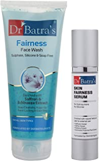Dr Batra's Fairness Face Wash 200 gm.And Skin Fairness Serum - 50 g (Pack of 2 Men and Women)
