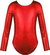 Hibote Mädchen Ballettanzug - Mode Langarm Rundhals Body Gymnastikanzug Kinder Wetlook Fitness Ballett Gymnastik Trikot Einteiler Bodysuit Leotard