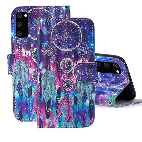 TOPOFU Samsung Galaxy S20 FE 5G/4G Hülle Lederhülle,3D Gemalt Cartoons Muster PU Wallet Flip Ledertasche mit Ständer Kartensteckplätze Handyhülle für Samsung Galaxy S20 Fan Edition-1