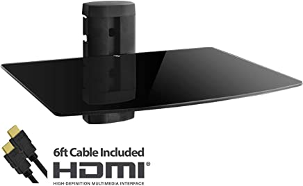 featured product Adjustable Shelf for DVD Player,  Cable Box/Receiver and Gaming Consoles with HDMI Cable,  UL Certified