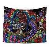 Amknn Tapisserie psychédélique Indienne à imprimés Mandalas et bohèmes Décor Mural Chambre à Coucher ou Salle de séjour (Tapisserie psychédélique Style 5, 150x130cm)