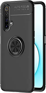 Boleyi Case for Realme X3 SuperZoom Cover, Magnetic Car Mount Cover, Invisible Matal Ring Bracket, Magnetic Support. (Black)