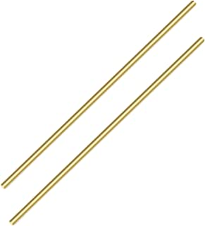 Sutemribor Brass Solid Round Rod Lathe Bar Stock, 3/16 Inch in Diameter 14 Inches in Length (2 PCS)