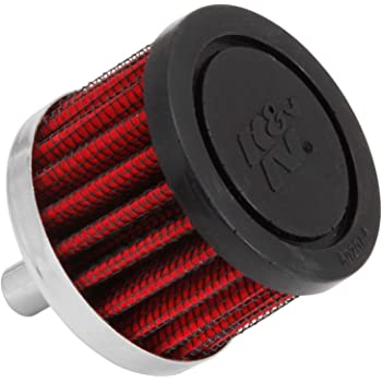 K&N Vent Air Filter/ Breather: High Performance, Premium, Washable, Replacement Engine Filter: Filter Height: 1.5 In, Flange Length: 0.875 In, Shape: Breather, 62-1000