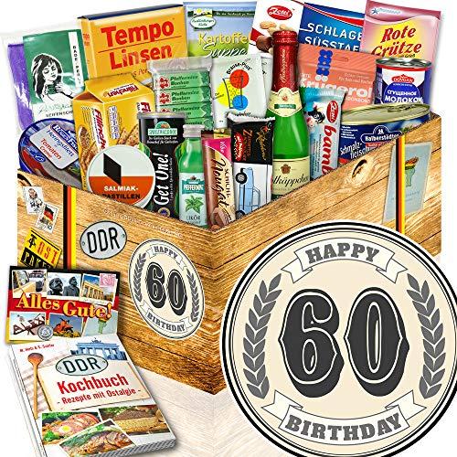 60. Geburtstag + 60 Geburtstag Geschenke Mann + Spezialitäten aus der DDR