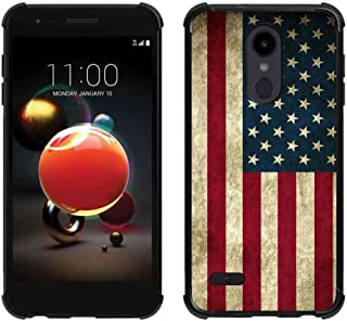 LG Aristo 2 Plus Case,LG Aristo 2/Tribute Dynasty/Zone 4/Fortune 2/Risio 3/Rebel 3 LTE/K8+ K8 Plus Us Grunge Flag Case, ABLOOMBOX Slim Bumper Rubber Protective Case with Reinforced Corners