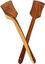 حديقة الفنون اليدوية اليدوية ملعقة خشبية مصنوعة يدويًا لتقديم والطبخ، أدوات المطبخ أواني / ملعقة مجموعة من 2