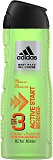Adidas Fragrance Male Personal Care 3-in-1 Body Wash, Active Start, 16 Fluid Ounce