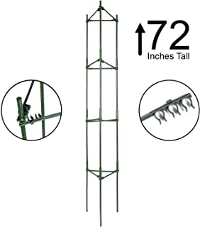 K-Brands Tomato Cage – Plant Stakes and Support with Clips (Upto 72 inches Tall)