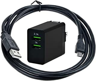 Uniq-bty AC/DC Adapter + USB Charging Cable for SMS Audio SMS-BT-SP-01BLK SYNC by 50 Portable Bluetooth Wireless Speaker SMS-BT-SPK-BLK SMS-BT-SP-01BLK-GP Power Supply