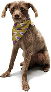 "Kess InHouse Pellerina Design""Golden Orchid Birds"" Yellow Purple Pet Bandana and Scarf, 28 by 20 by 20-Inch"