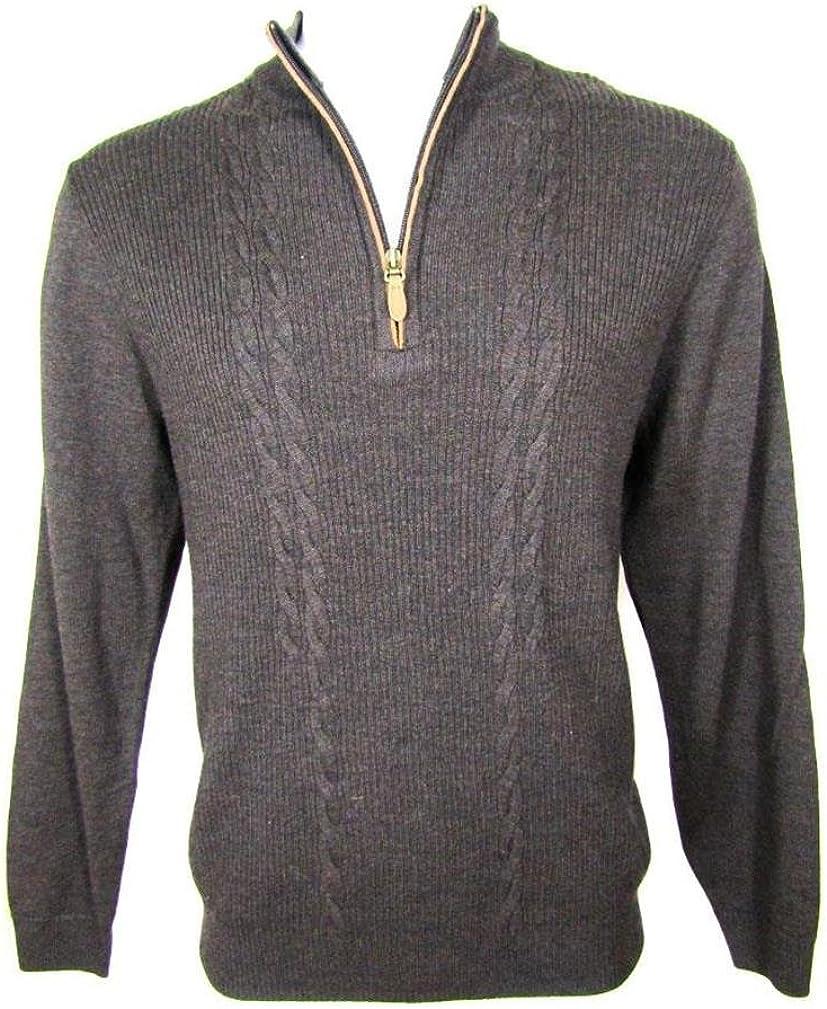 Turnbury Man's Extra Fine Merino Wool Pullover, L (Brown)