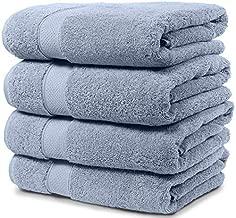 Maura 4 Piece Bath Towel Set Premium Quality Turkish Towels. Super Soft, Plush and Highly Absorbent. Set Includes 4 Pieces of Bath Towels (Bath Towel-Set of 4, Serenity Blue)