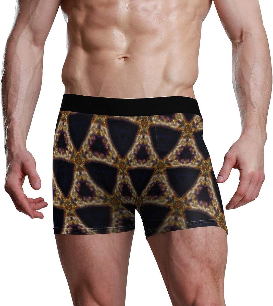 Mens Boxer Briefs Underwear Amazing Abstract Pattern Hazy Visuals Trunks Underwear Short Leg Boys