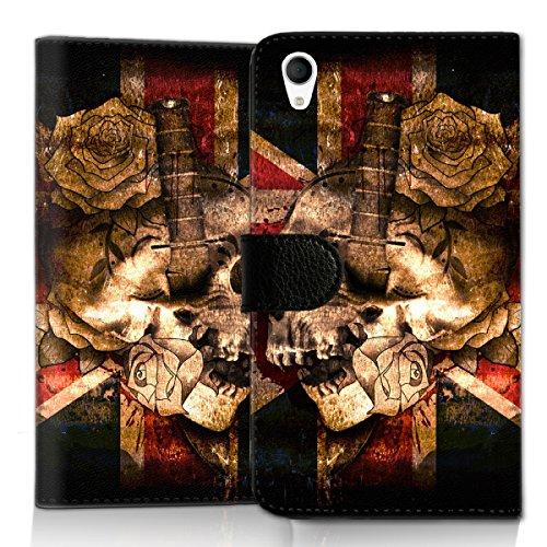 wicostar Wallet Book Style Flip Handy Tasche Hülle Schutz Hülle Schale Motiv Etui für LG L Bello 2 - Flip UMH13 Design1