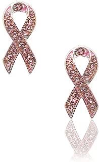 Breast Cancer Awareness Ribbon Earrings (pink)