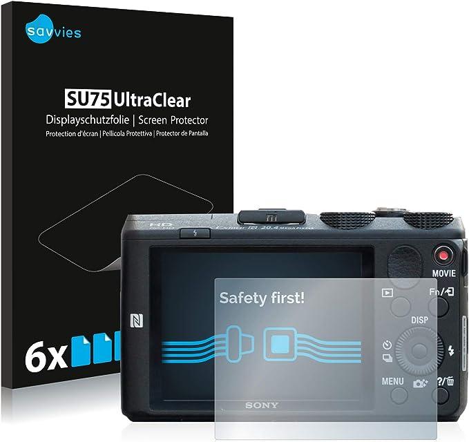 savvies Protector Pantalla Compatible con Sony Cyber-Shot DSC-HX60 (6 Unidades) Pelicula Ultra Transparente