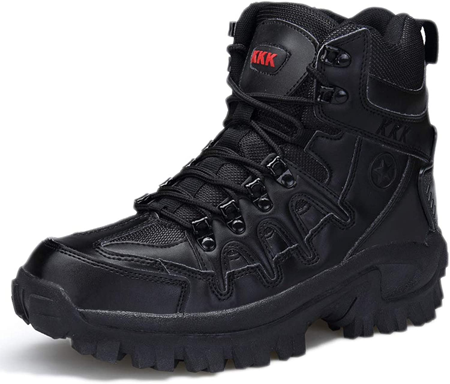 Snfgoij Tactical Military Boots Men Sand Desert Breathable Lightweight Autumn high-top Outdoor Combat Boots wear-Resistant Military Boots