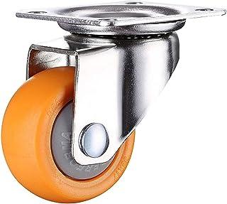 4 Stks 1 Inch 25Mm Zware 60 Kg Oranje Zwenkwielen Trolley Meubels Caster Rubber (Kleur: B1, Maat: 1.0 Inch)