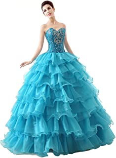 Engerla Sweetheart Beading Rhinestone Floor-Length Ball Gown Quinceanera Dress