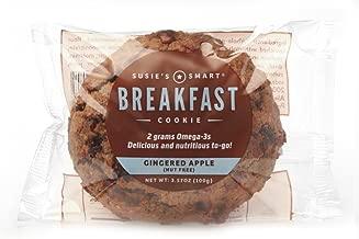Susie's Smart Breakfast Cookie Gingered Apple Breakfast Cookie, , 3.5 Ounce (Pack of 18)