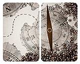 WENKO 53893100 Plaques de protection Boussole, 2 Pièces, Multicolore, Verre trempé,  30 x 52 cm
