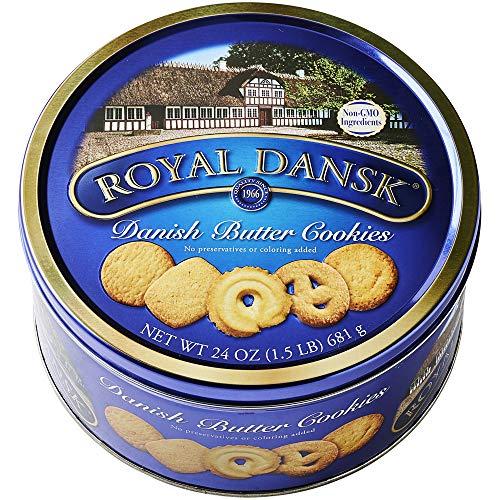 Royal Dansk Danish Cookies Tin, butter, 24 Oz