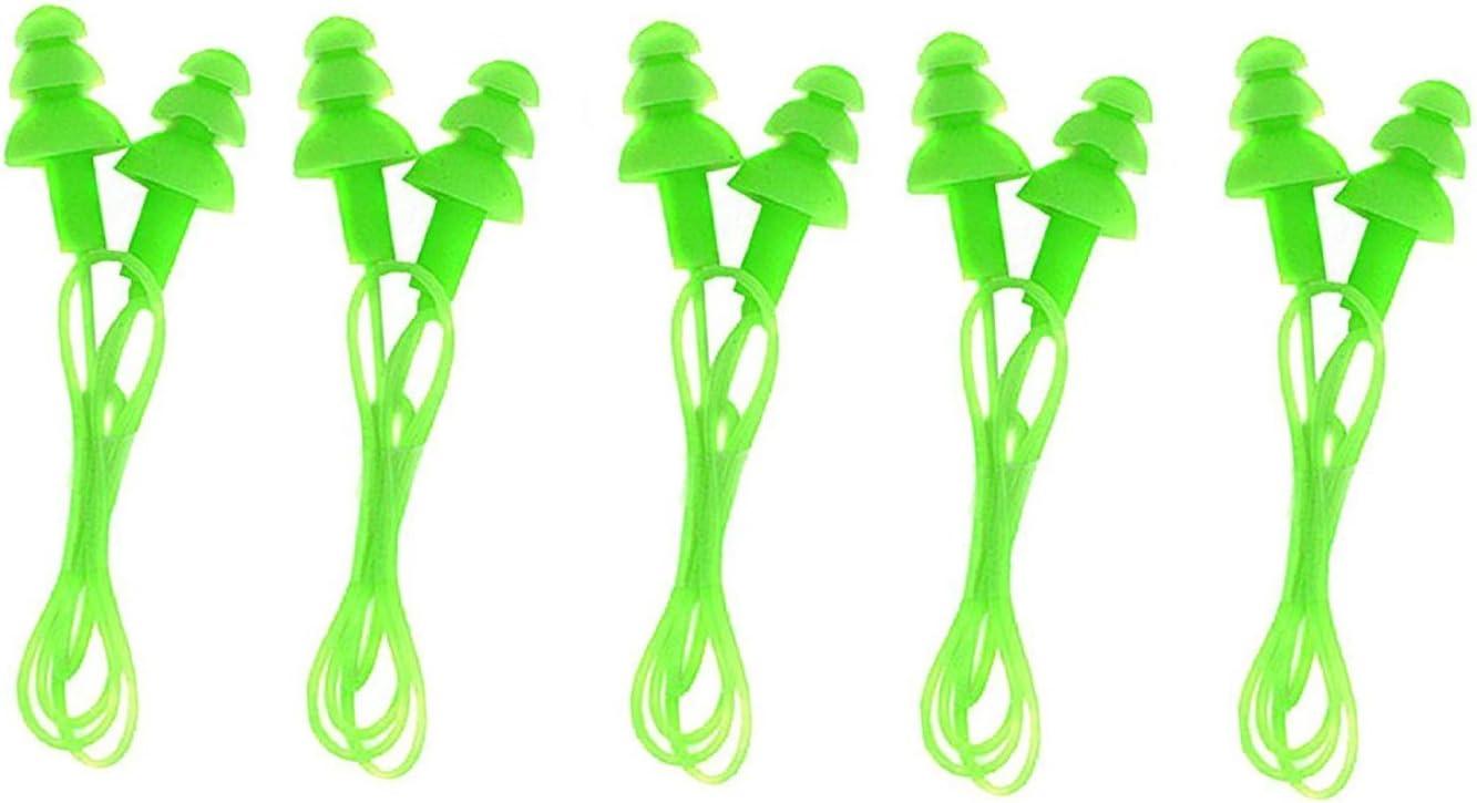 5 Paar Silikon Ohrenstöpsel Ohrstöpsel Schwimmen Ear Plug Multifarbe Schön Q4J6