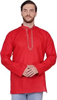 Men's Tunic Short Kurta Shirt Round Neck Regular fit