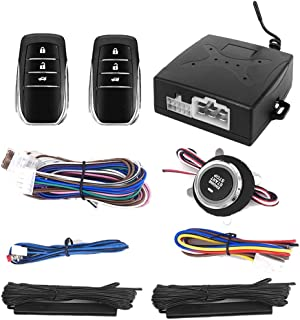 $59 » Car Alarm System PKE Passive Keyless Entry One Push Start Button Remote Engine Start Stop with Remote Control Trunk Releas...
