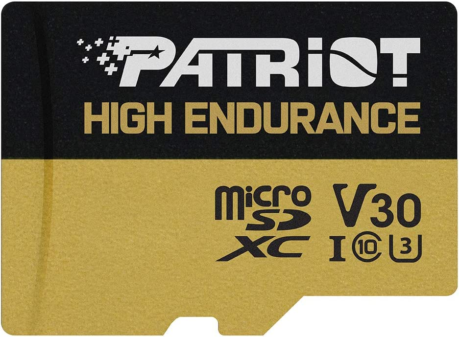 Patriot EP Series 32GB High Endurance MicroSDHC Card for Dash Cam and Home Security Camera Systems - C10, U3, V30, 4K UHD, Micro SD Card PEF32GE31MCH