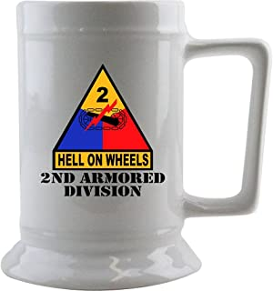 Army 2nd Amored Division 16 oz. Beer Stein