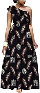 African Dresses for Women Kitenge Flower Floral Fashion Culture Wax Cotton Print