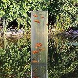 Wasserkunst Fischsäule 100 cm x 20 cm Durchmesser   Fischturm aus PLEXIGLAS   Fischfahrstuhl für Fische   3 mm Wandstärke aus transparentem Acrylglas für Goldfische für Ihren Teich