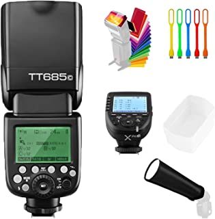 GODOX TT685C E-TTL High-Speed Sync 1/8000s 2.4G GN60 Master Slave Off Flash Speedlite Speedlight with XPro-C Wireless Trigger Transmitter Compatible for Canon Cameras &Diffuser,Filter,Snoot,USB LED