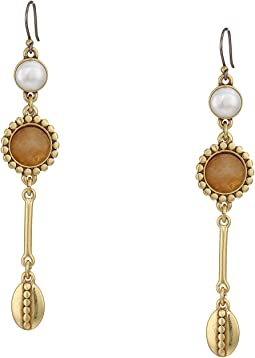 Pearl Linear Drop Earrings