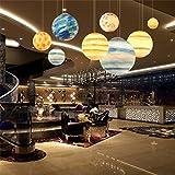 LQ Nordic Modern Creative Universe Planet Resina Lampadario Soggiorno Ristorante Hotel Cafe Bar Luce di soffitto E27 lampadario (Color : Mercury)