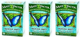 The Mate Factor Yerba Mate Energizing Herb Tea, Mocha Mint , 20 Tea Bags (Pack of 3)