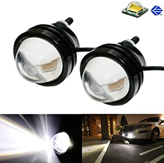 iJDMTOY (2) Xenon White 5W CREE High Power Bull Eye LED Projector Lamps, Good For Parking Lights, Fog Lights, Driving DRL Lights or Backup Reverse Lights