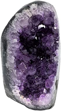 Extreme Polished Amethyst Cluster - 2 to 2.5 pounds of Powerful, Deep Purple Crystals Geode from Uruguay. Includes Bonus 3 in