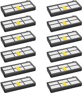 WEYO - Juego de 12 filtros para robot aspirador iRobot Roomba 800 850 851 860 865 866 870 871 876 880 885 886 890 891 896 900 960 966 980 Kit de accesorios de repuesto