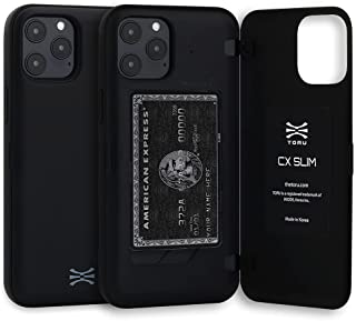 TORU CX SLIM Compatible with iPhone 12 Pro Max Case - Protective Bumper and Hard Cover Dual Layer Wallet with Hidden ID Sl...