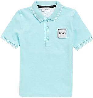 dd3cc8f665 BOSS Hugo Kids Logo Polo Bleu Clair