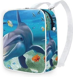 DEZIRO - Mochila de hombro con diseño de delfín bajo el agua